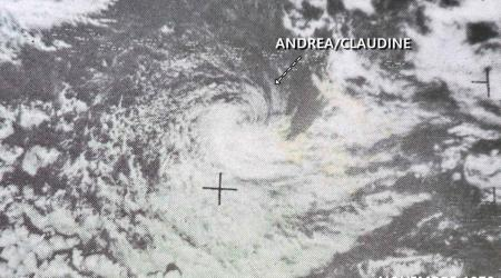 CT CLAUDINE-ANDREA 70KT (source IBTrACS)