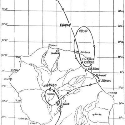CLOTILDA trajectoire au dessus de la Réunion