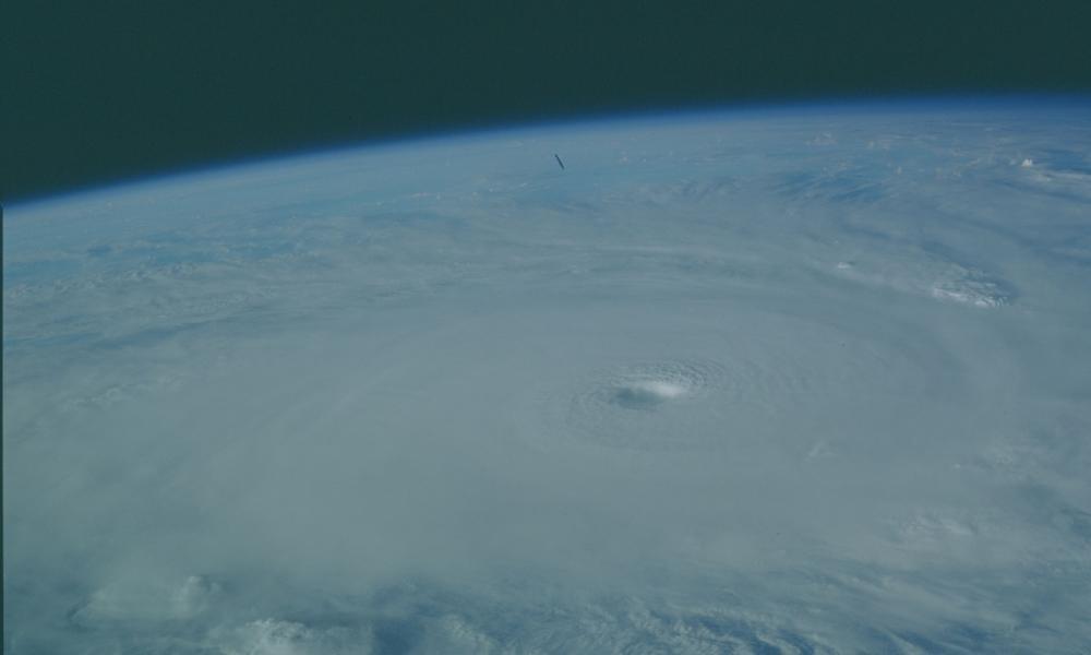Le cyclone Kamisy vu de l'espace