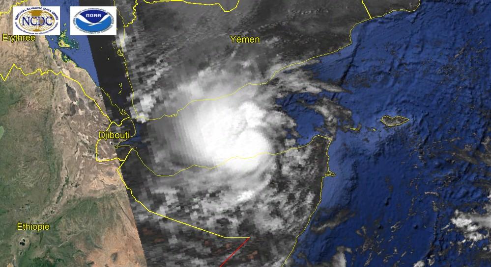 Tempête tropicale 01A le 27 mai 1984à 06z ©NOAA-NCDC