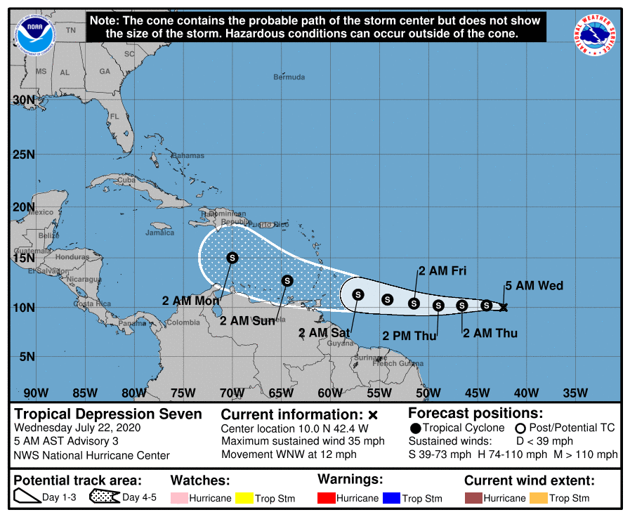 trajectoire future tempete tropicale gonzalo