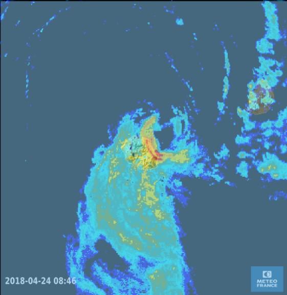 Image radar du 24/04/2018 à 08h46 ©Météo France