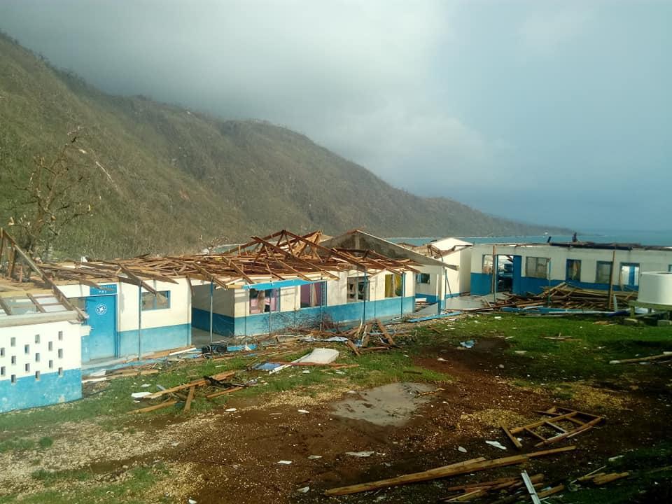 hopital à Melsisi totalement ravagé par le cyclone harold