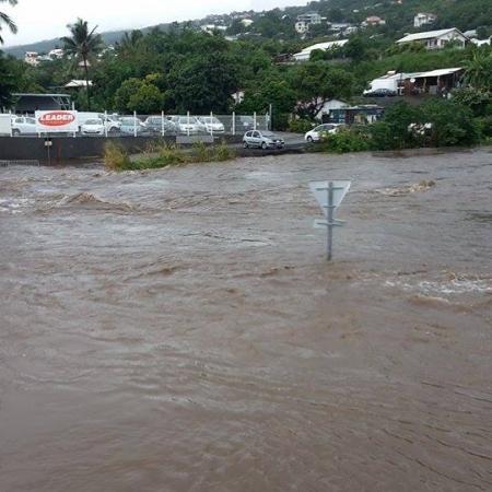 Inondations à la Réunion