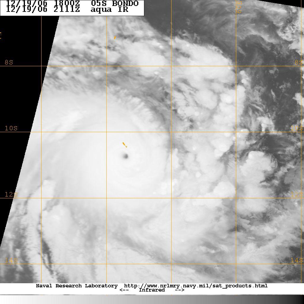 Cyclone BONDO le 19/12/06 à 21h11 utc