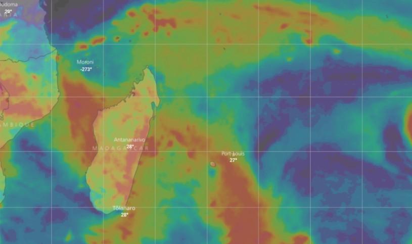 Prévision du cumul pluviométrique des 10 prochains jours simulés par le modèle IFS (WINDY)