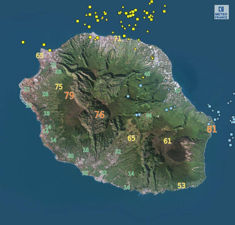 carte impact foudre Météo France Réunion
