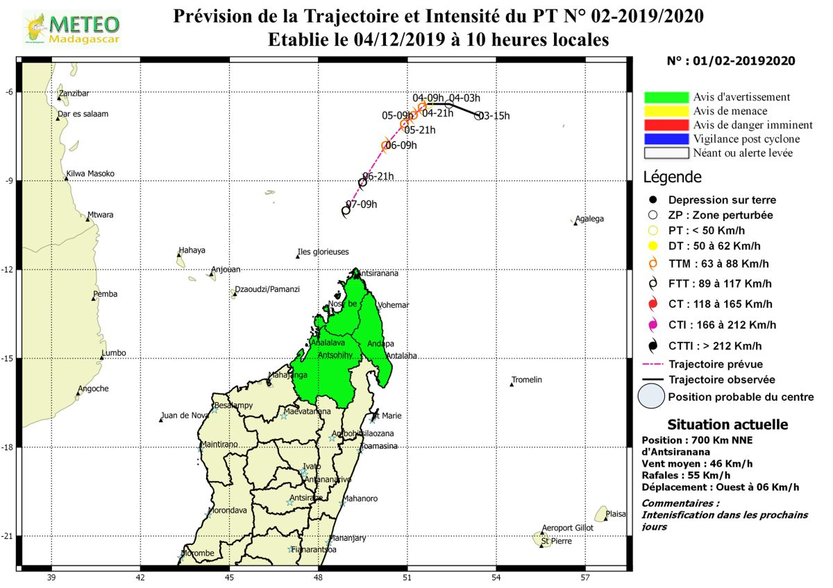 alerte cyclonique verte à madagascar