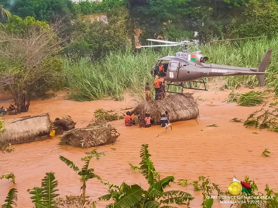 inondations a madagascar Janvier 2020