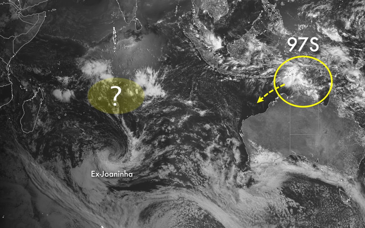 Activité cyclonique probable dans l'océan indien