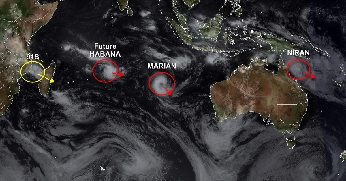 Activite cyclonique hemisphere sud 1