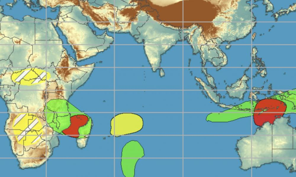 Activite cyclonique ocean indien