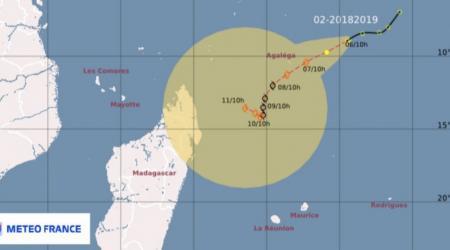 future tempête tropicale ALCIDE