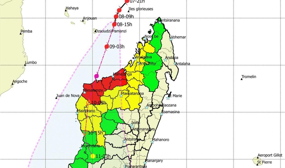 Alerte rouge cyclonique madagascar