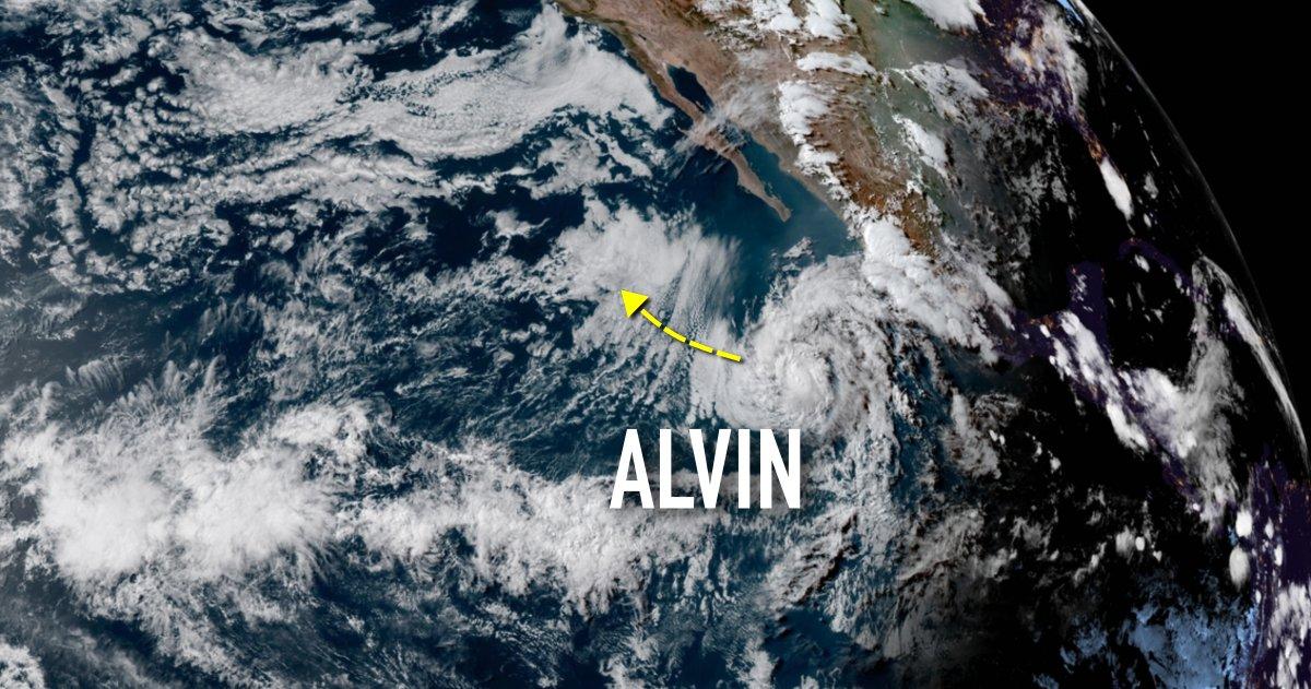 tropical storm Alvin