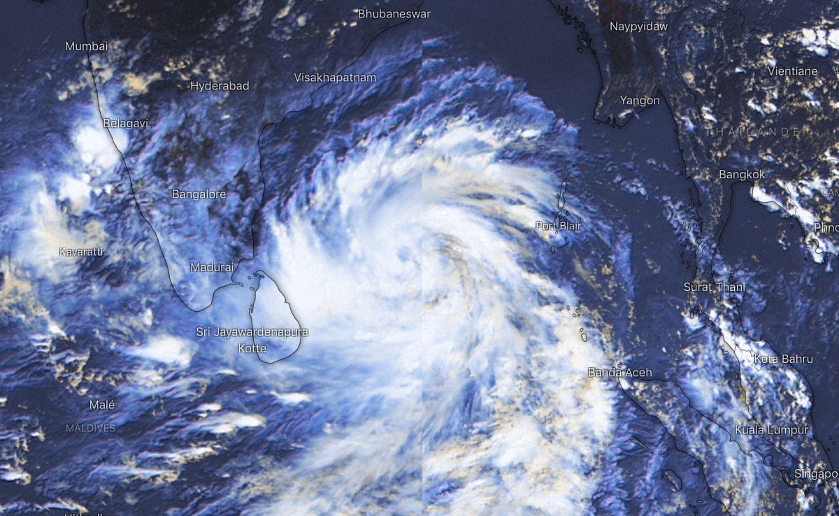 futur cyclone Amphan