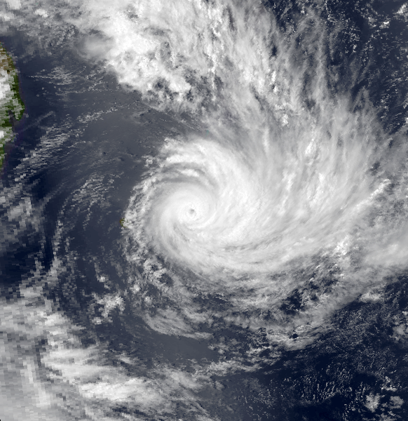 Cyclone Tropical Intense Anacelle le 11 février 1998 à 1038utc (NOAA)