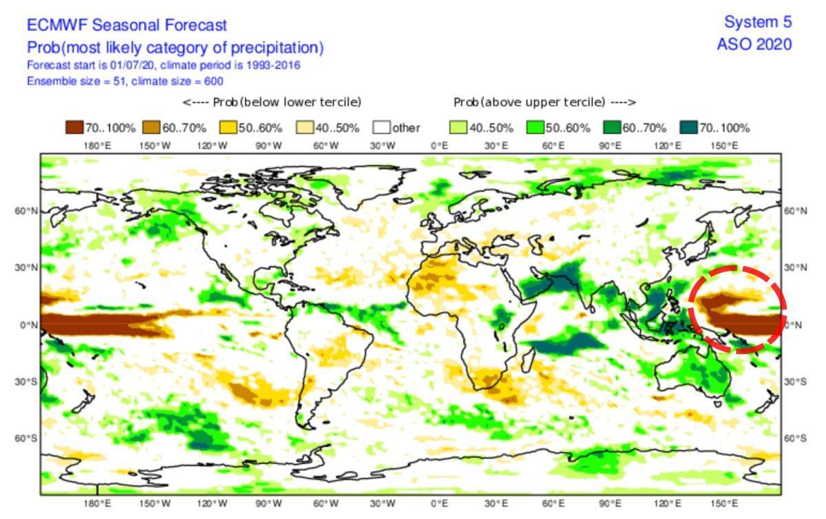 Anomalie pluie pacific northwest 2020