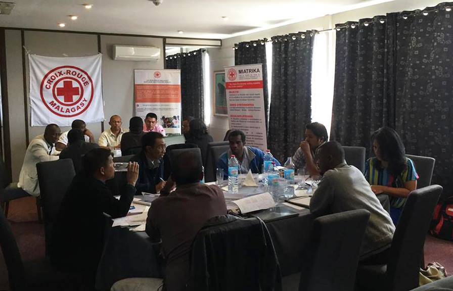 Staffs techniques et volontaires de la Croix-Rouge Malagasy (CRM)