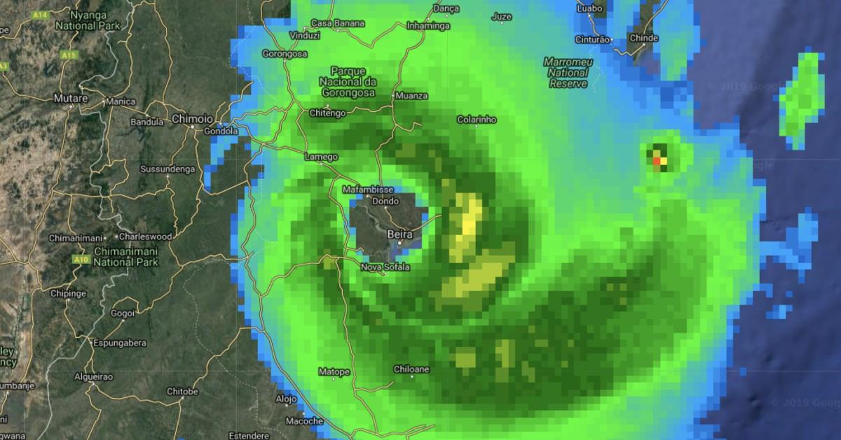 Beira dans l'oeil du cyclone IDAI