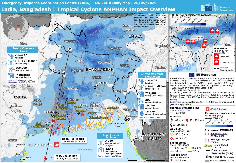 Bilan cyclone amphan inde bangladesh