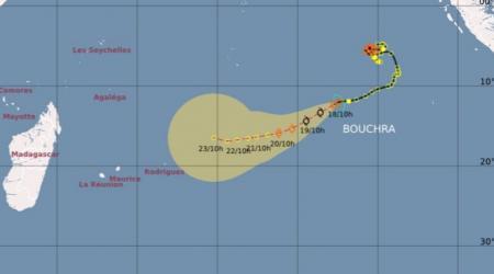 Trajectoire tempête BOUCHRA