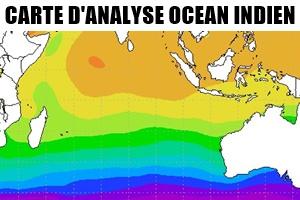 Carte analyse océan indien