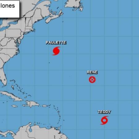 Carte saison des ouragans 2020