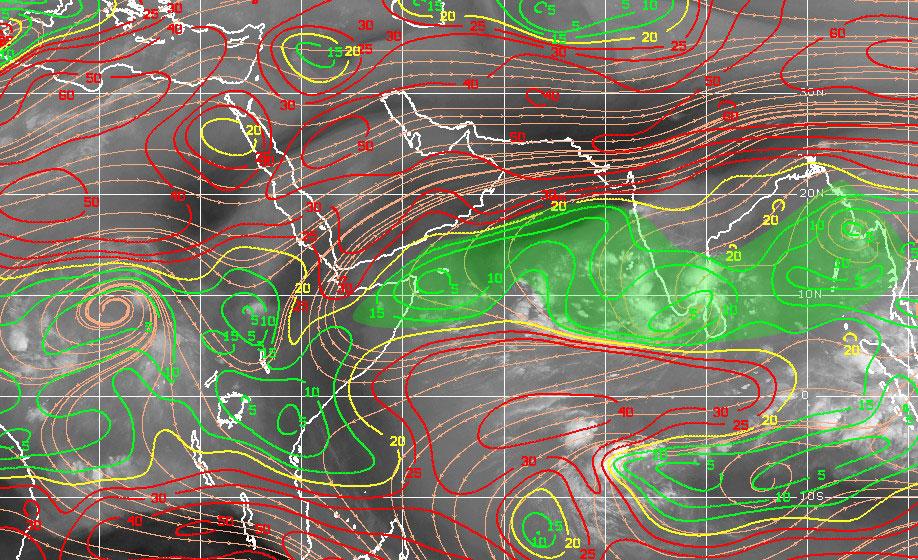 Carte cisaillement mer d'Arabie ©CIMSS