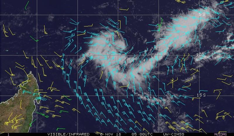 Future tempête tropicale ALCIDE ©CIMSS
