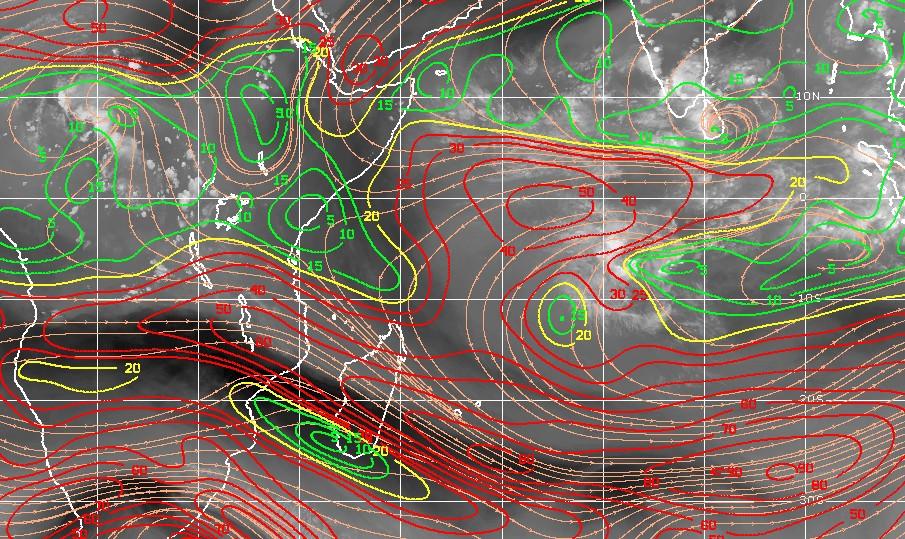 Carte cisaillement ocean indien sud-ouest ©CIMSS