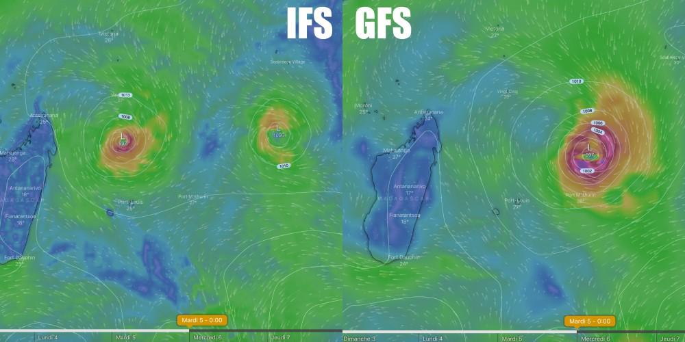 modèle IFS et GFS