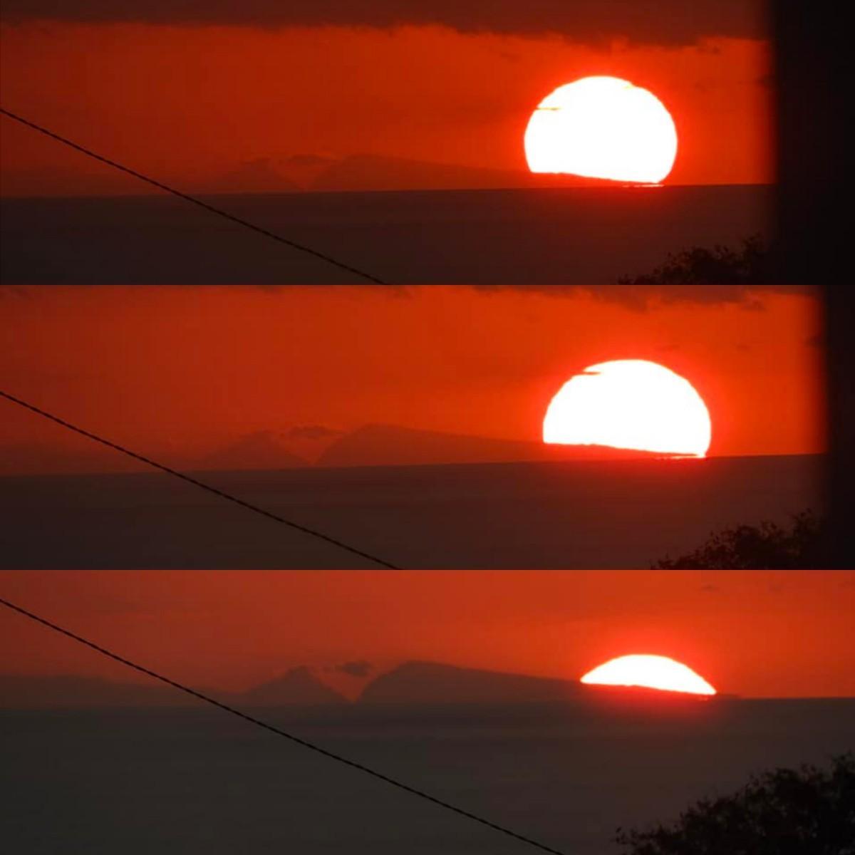 Coucher soleil depuis maurice