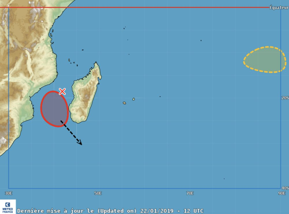Risque cyclogenèse océan indien