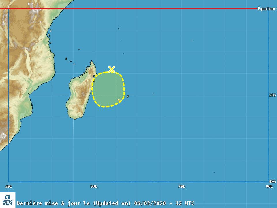 Cyclogenese ocean indien sud ouest 2019/2020