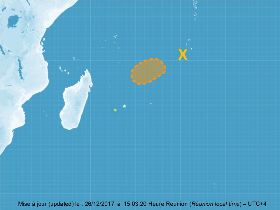 Carte de cyclogenèse du CMRS de la Réunion