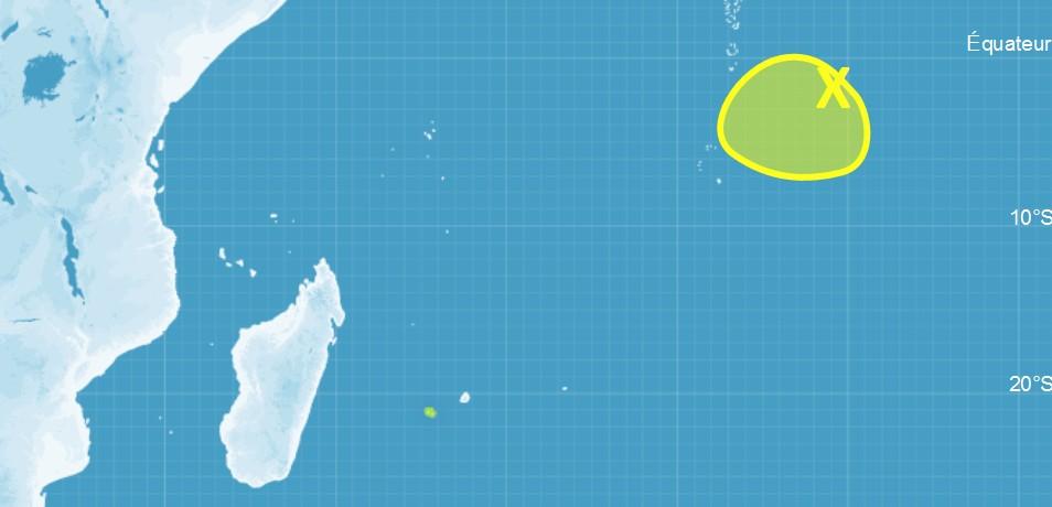 Carte cyclogenèse CMRS de la Réunion