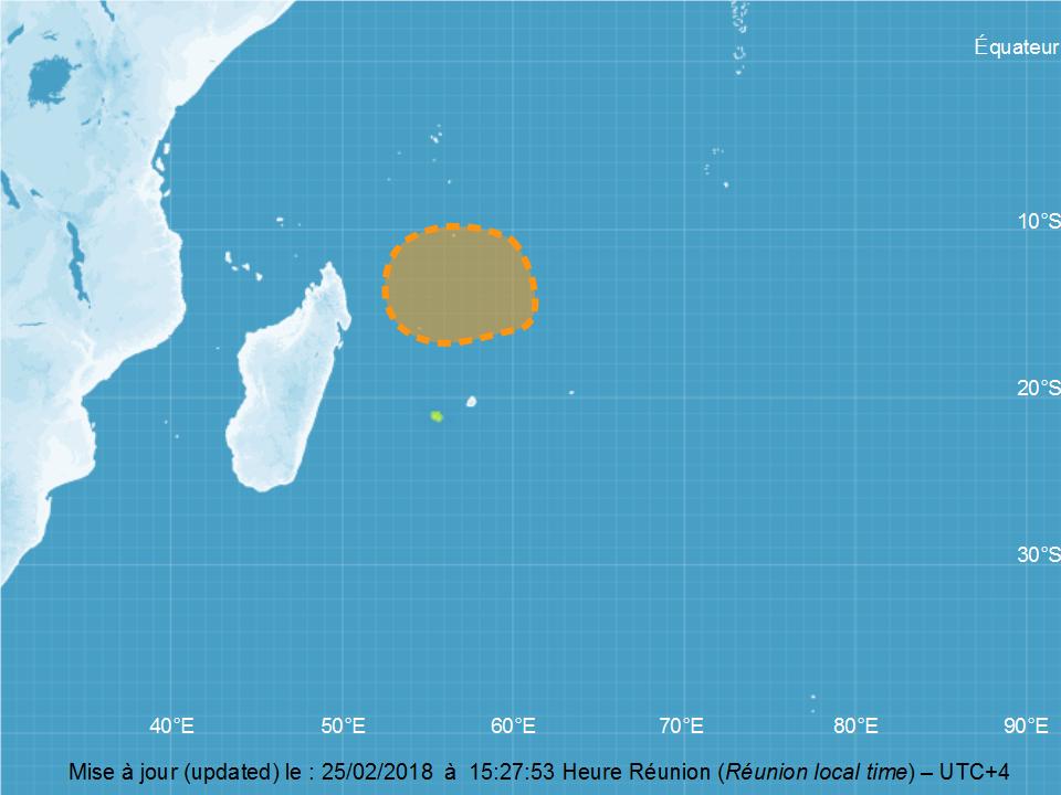 Carte de Cyclogenese du 25/02/2018 à 12z ©CMRS de la Réunion