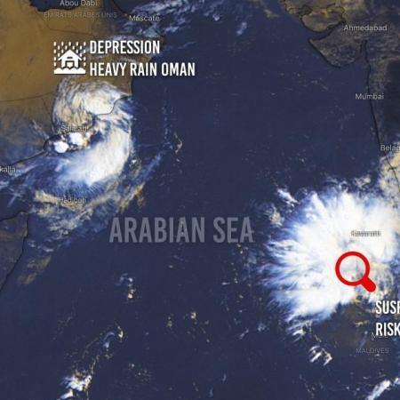 Cyclogenesis arabian sea