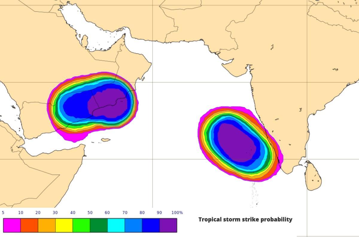 Cyclogeneses ocean indien mer arabie