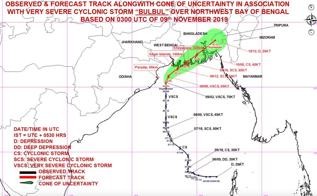 Cyclone bulbul track 2