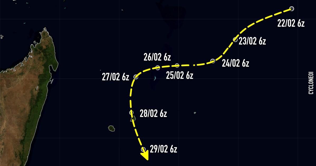 Cyclone carol trajectoire