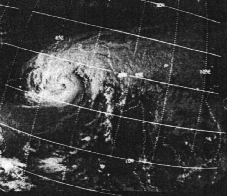 Cyclone de Bhola le 11 novembre 1970 (NOAA)