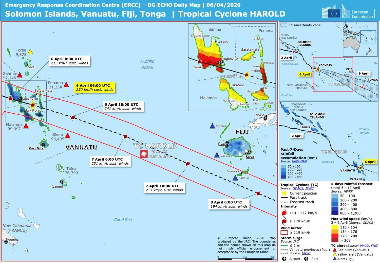 Cyclone harold au vanuatu