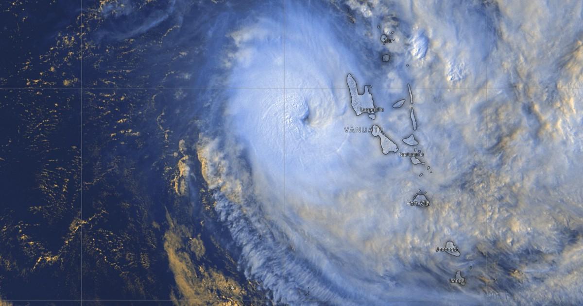 Cyclone harold va frapper les vanuatu