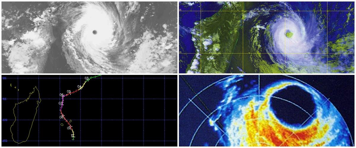 Cyclone DANIELLA en 1996
