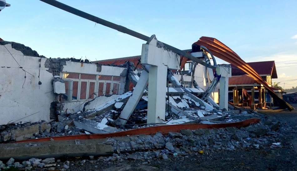Gymnase détruit aux Philippines lors du typhon Mangkhut ©Josh Morgermann