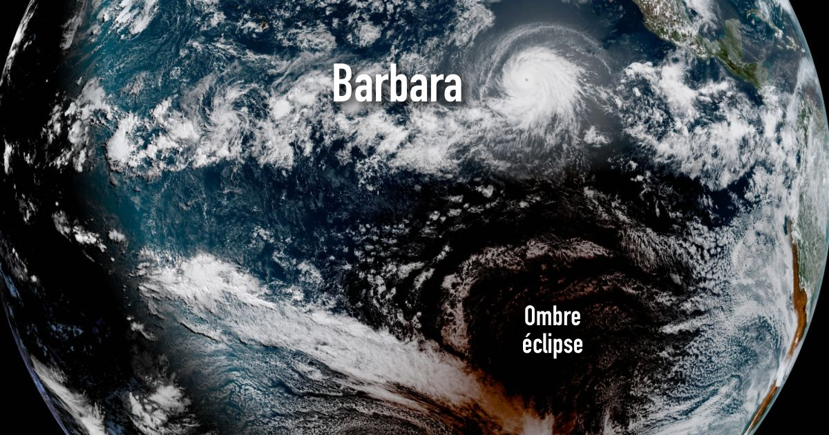 Eclipse ouragan barbara