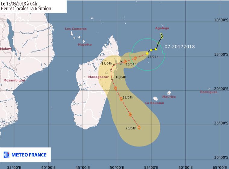 Futur ELIAKIM : prévision trajectoire CMRS de la Réunion