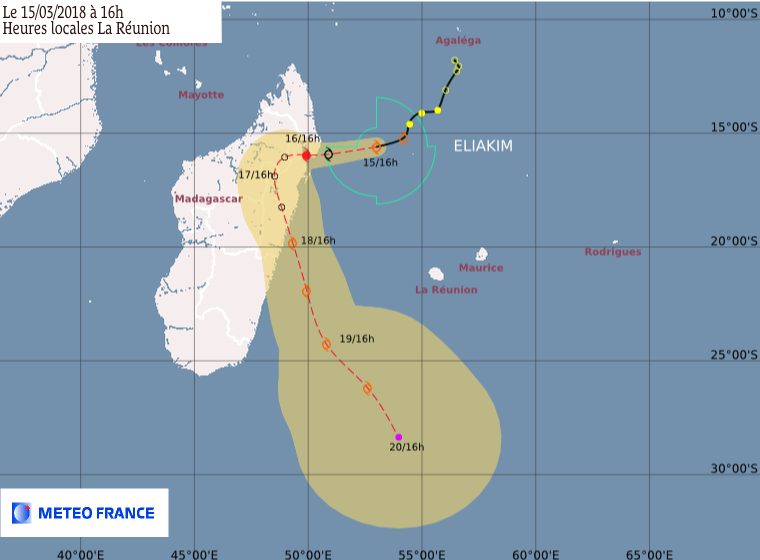 ELIAKIM : prevision de trajectoire du CMRS de la Réunion